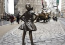 C'è una nuova statua a New York, di una bambina senza paura
