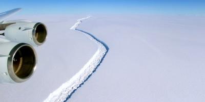 In Antartide si sta per staccare un iceberg molto grosso
