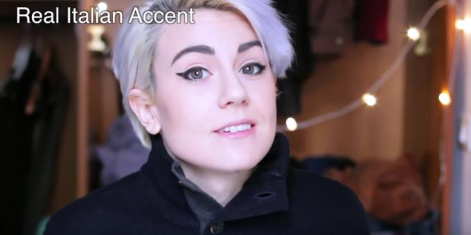 Finto accento italiano vs vero accento italiano