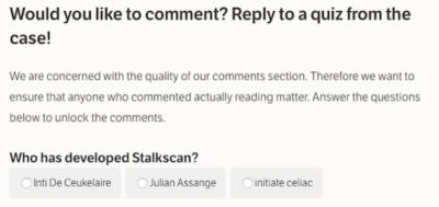 Per commentare questo articolo, dovete superare un test