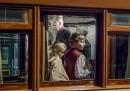 Re Filippo di Belgio con i figli al Museo dei treni