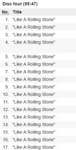 Potete vivere senza un intero CD di prove scartate di Like a Rolling Stone? Io posso.