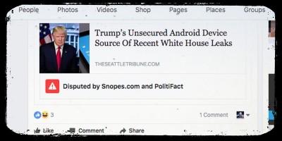 Facebook ha iniziato a segnalare le notizie false