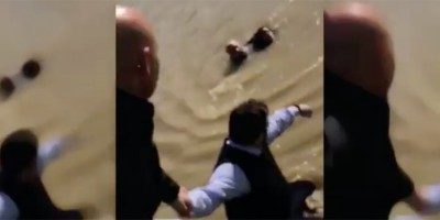 Il video del salvataggio di una donna caduta nell'Arno a Firenze