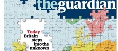 Le prime pagine del Regno Unito su Brexit