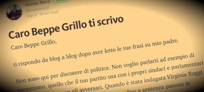 Lo scambio tra Renzi e Beppe Grillo