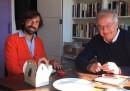 Una foto di Andrea Pirlo e Walter Veltroni insieme a New York