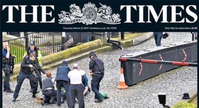 Le prime pagine dei giornali britannici sull'attentato a Londra