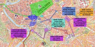 Il blocco del traffico a Roma