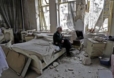 La distruzione di Aleppo, in una foto particolare