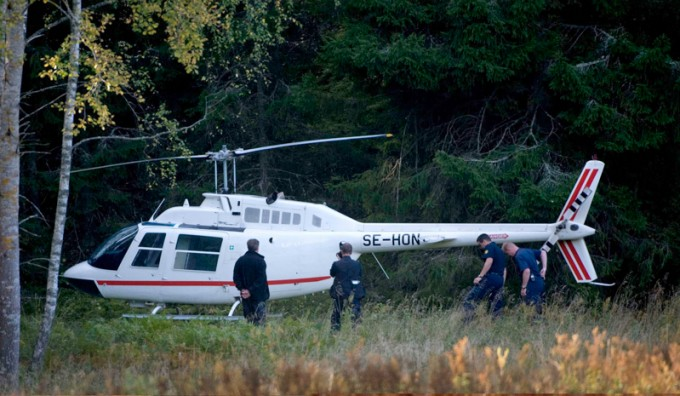 SWEDEN HELICOPTER ROBBERY