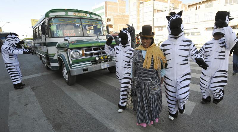 Le zebre che dirigono il traffico a La Paz