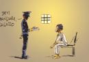 Il fumetto di Makkox su Gabriele Del Grande