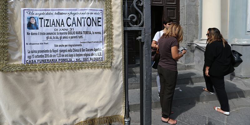 Funerale di Tiziana Cantone