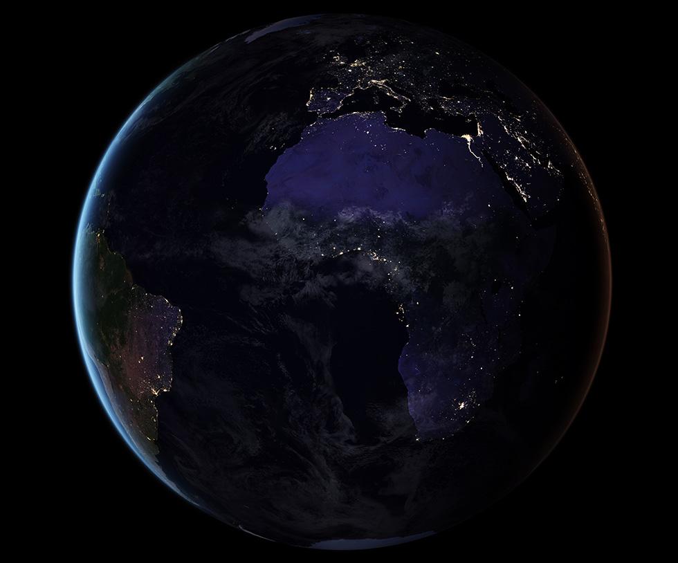 Planisfero Notturno Illuminato.Questo E Il Mondo Di Notte Il Post