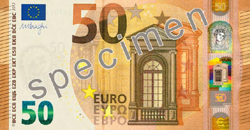 Come sono fatti i nuovi 50 euro in circolazione da oggi for Wohnwand 50 euro