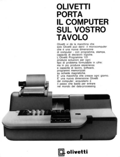pubblicita p101 Olivetti