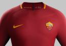 La nuova maglia della Roma per la stagione 2017/2018