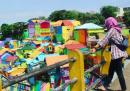 Un nuovo posto per foto delle vacanze molto colorate
