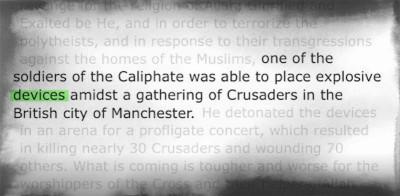 La rivendicazione dell'ISIS per l'attentato di Manchester è stata inusuale