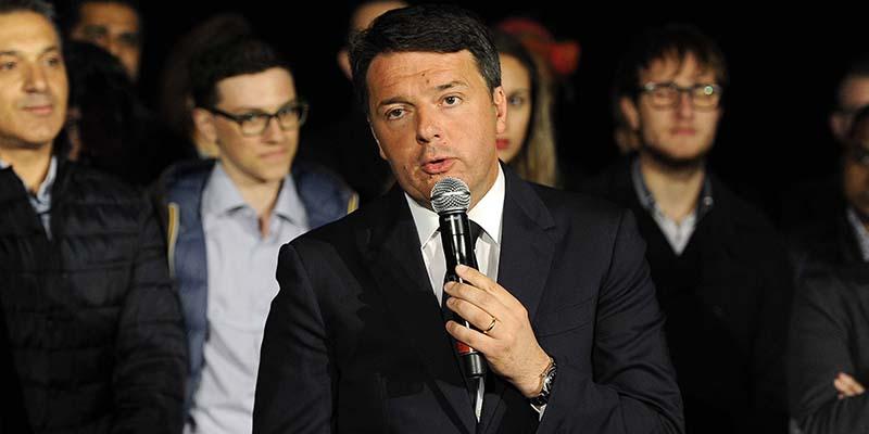 Nazareno. Elezioni primarie del PD - Intervento di Matteo Renzi dopo vittoria