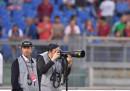Paolo Sorrentino ha visto Roma-Juventus da bordo campo, vestito da fotografo