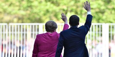 Le prime foto di Merkel e Macron insieme