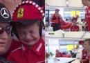 È stata una bella giornata per un piccolo tifoso di Kimi Raikkonen