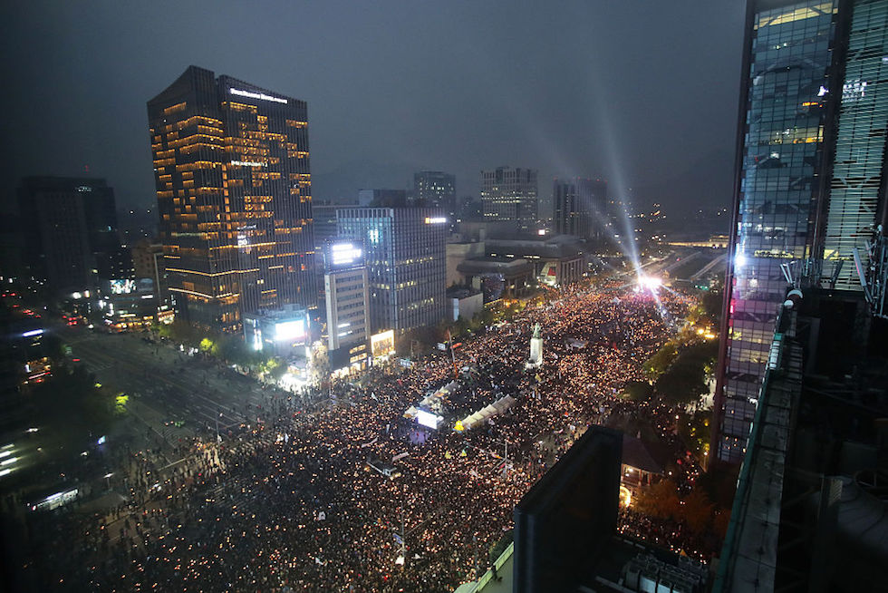 Anti-Park Demonstrators Gather In Seoul Following Presidential Apology