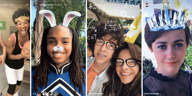 Instagram implementa i filtri fotografici in realtà aumentata