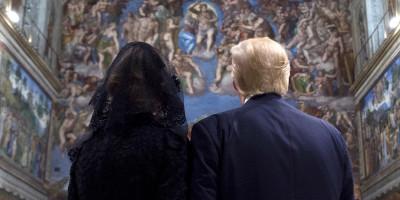 Le foto di Trump in Italia