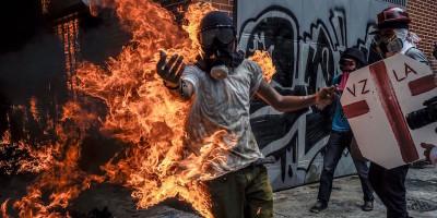 Foto e notizie dalle proteste in Venezuela
