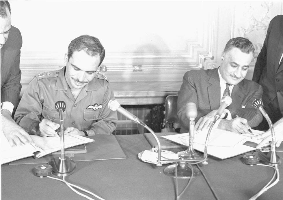 HUSSEIN WITH NASSER 1967