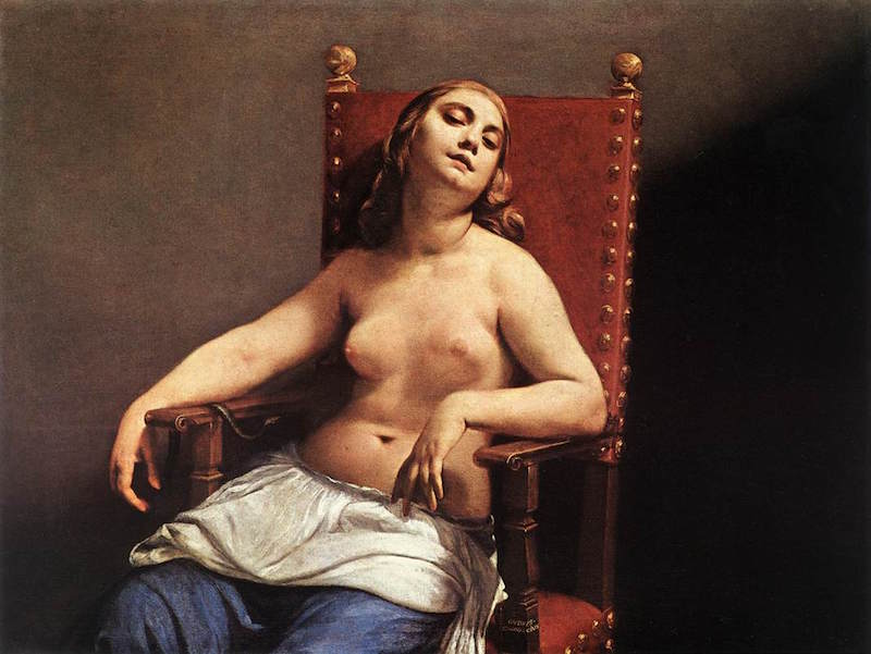 Guido_Cagnacci_-_The_Death_of_Cleopatra_-_WGA3757