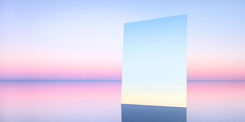 Mirror 12, del fotografo Murray Fredericks per la serie Salt: Vanity