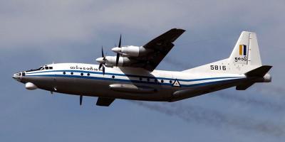 L'aereo militare precipitato in Myanmar
