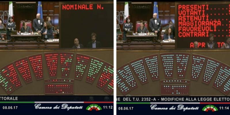 Com 39 andato davvero il voto segreto sulla legge for Numero deputati alla camera