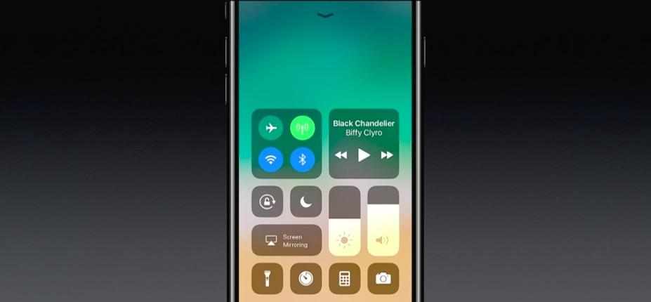 iOS 11 - Centro di controllo