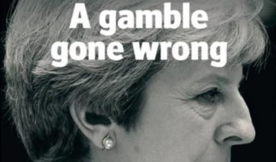 Le prime pagine britanniche dopo le elezioni