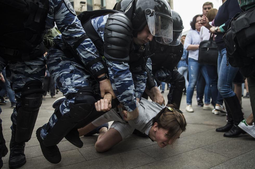 manifestazione russia arresti