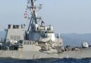Una nave da guerra americana e un mercantile filippino si sono scontrati