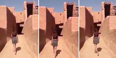Una donna saudita è stata fermata dalla polizia perché indossava una minigonna