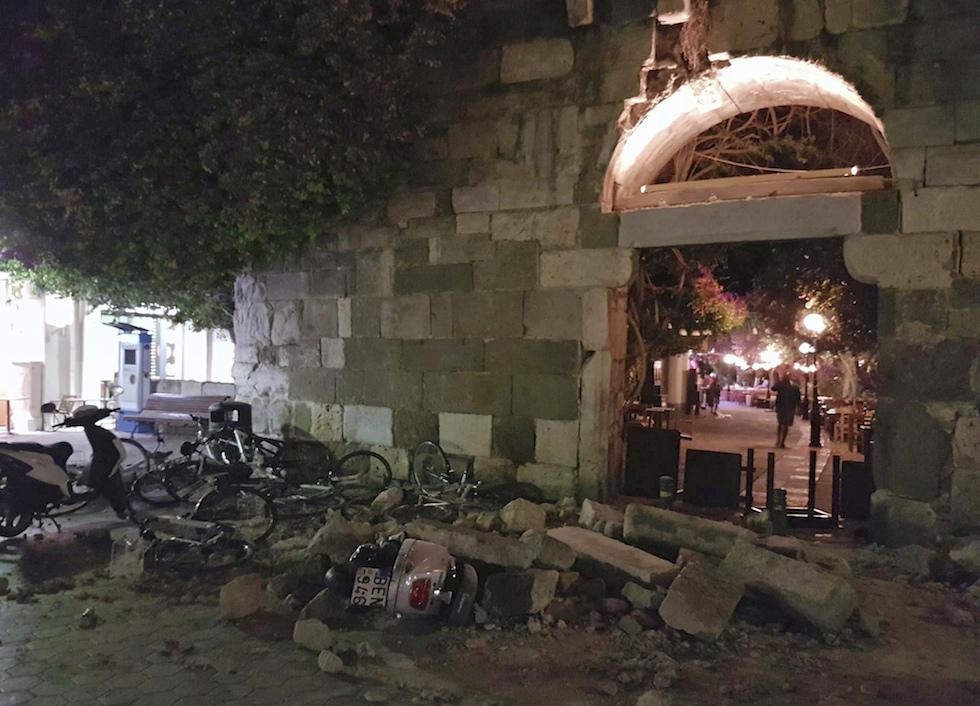 C 39 stato un forte terremoto vicino all 39 isola di kos in for Ristorante kos milano