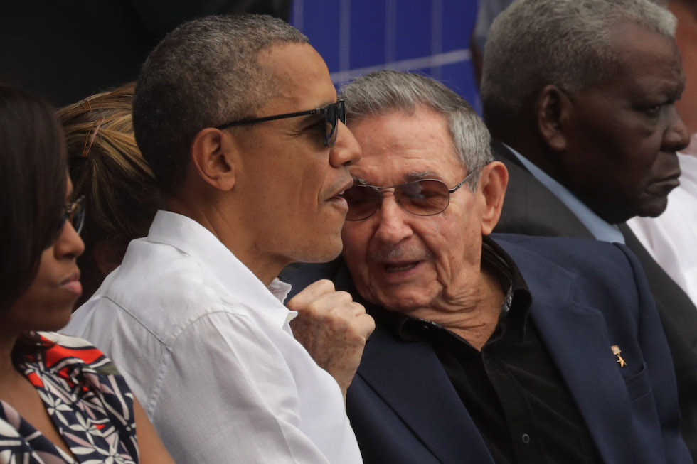 President Obama Attends Tampa Bay Devil Rays v Cuban National Team Baseball Game In Havana