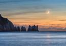 Crescent Moon over the Needles © Ainsley Bennett