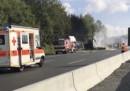 Il grave incidente tra un autobus e un camion in Germania
