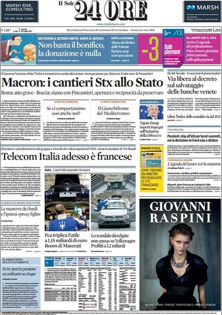 Il sole 24 ore ipo di poste italiane