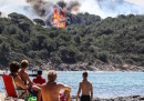 Gli incendi nel sud della Francia