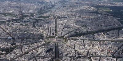 Parigi vista da sopra