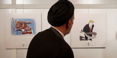 In Iran c'è stato un concorso di caricature e vignette su Trump